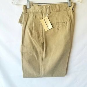 Polo by Ralph Lauren Khaki Front Pleated Pants NWT